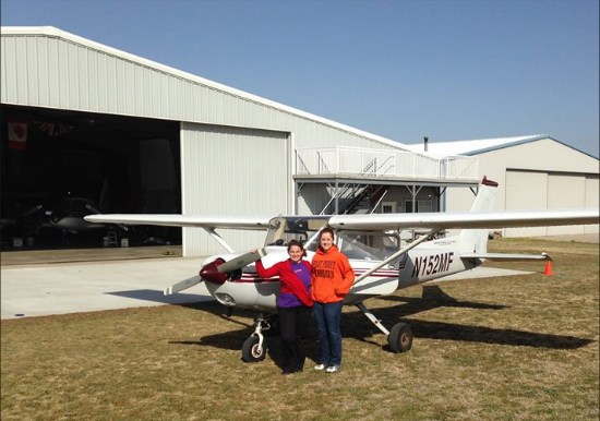Student with flying instructor, dallas, tx